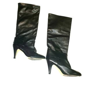 Pazzo Womens Leather Black Boots Sz 7.5